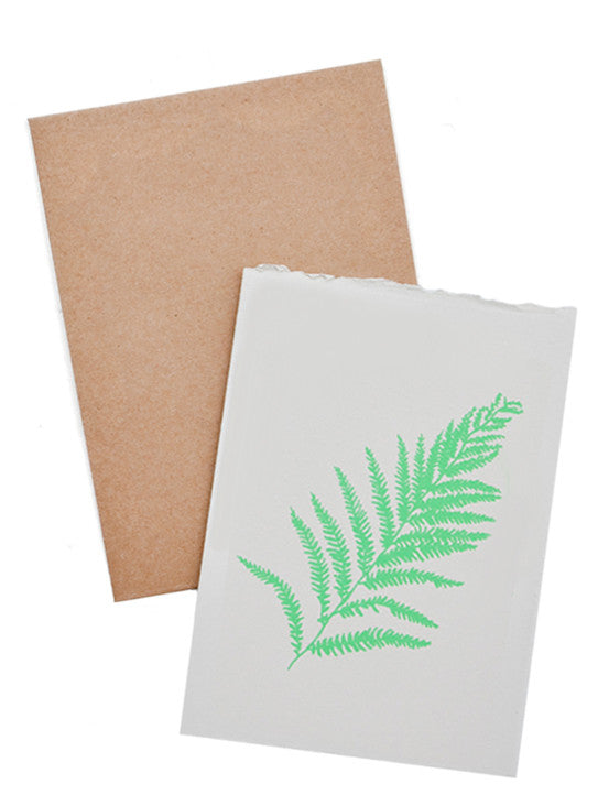 Fern Screen Printed Card - LEIF