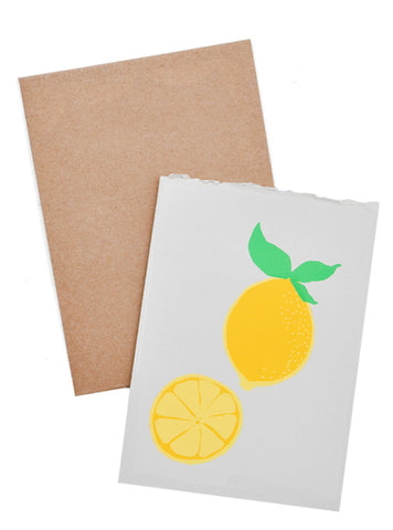 Lemon Screen Printed Card - LEIF