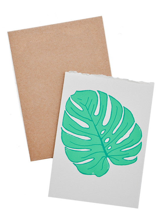 Monstera Screen Printed Card - LEIF