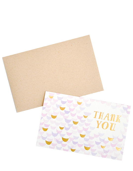 Golden Lilac Thank You Card Set - LEIF
