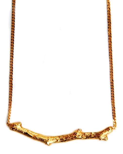 Golden Twig Necklace