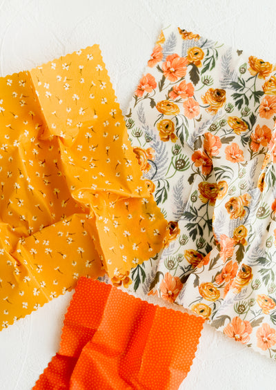 Floral Print Beeswax Wrap