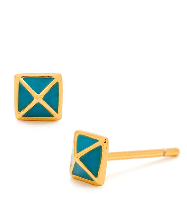 Lula Pyramid Stud Earrings