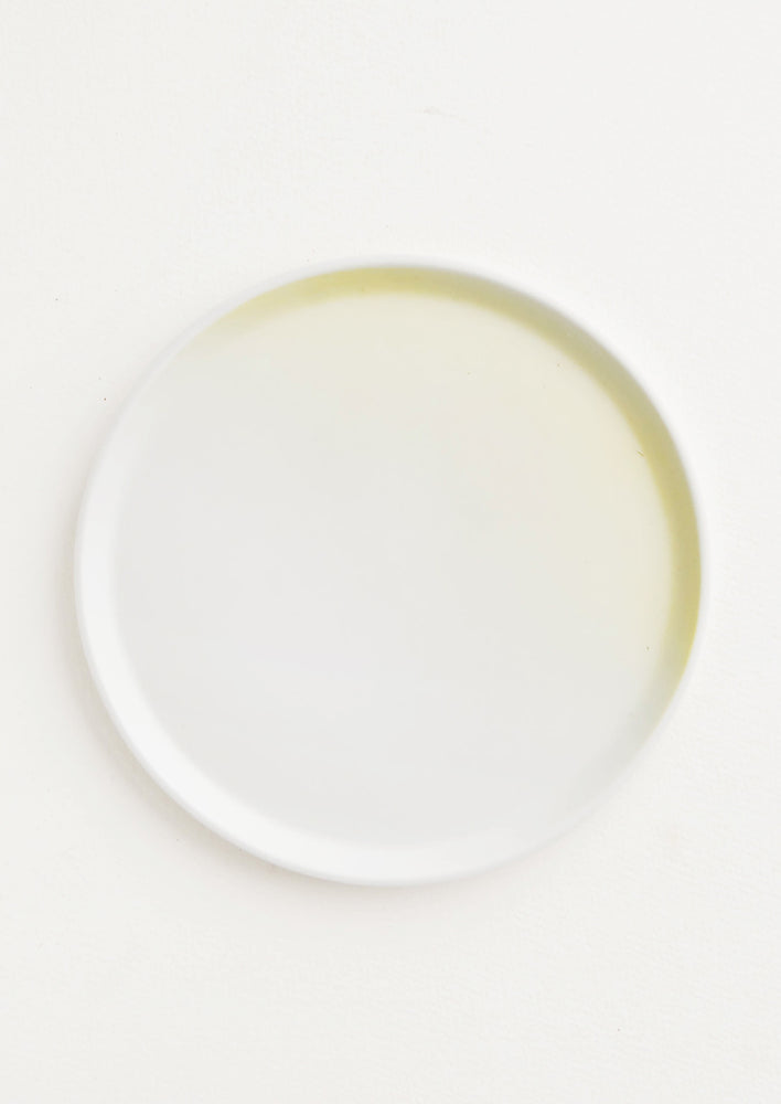 Daylight: A rimmed white and yellow ombre porcelain plate.