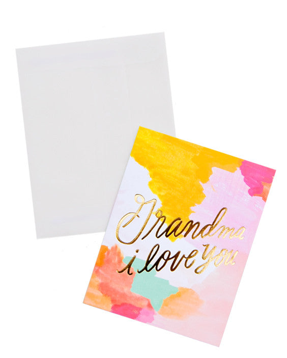 Grandma I Love You Card - LEIF