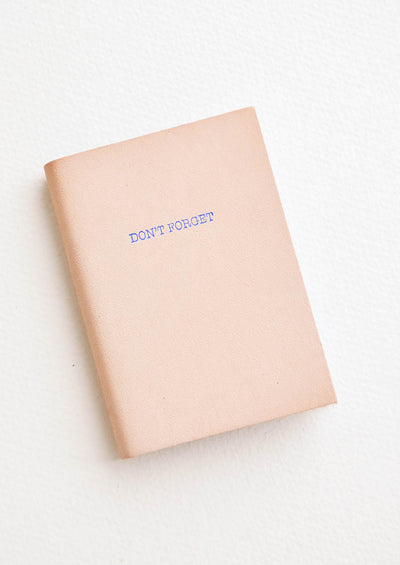 Mini Mantra Leather Notebook