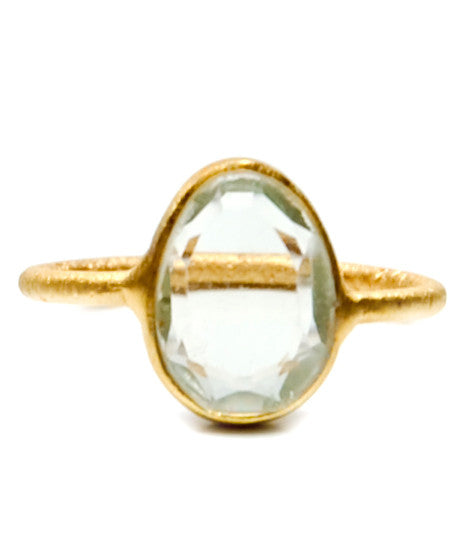 Gem Slice Ring in Green Amethyst - LEIF