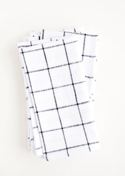 Grid Check Cotton Napkin Set