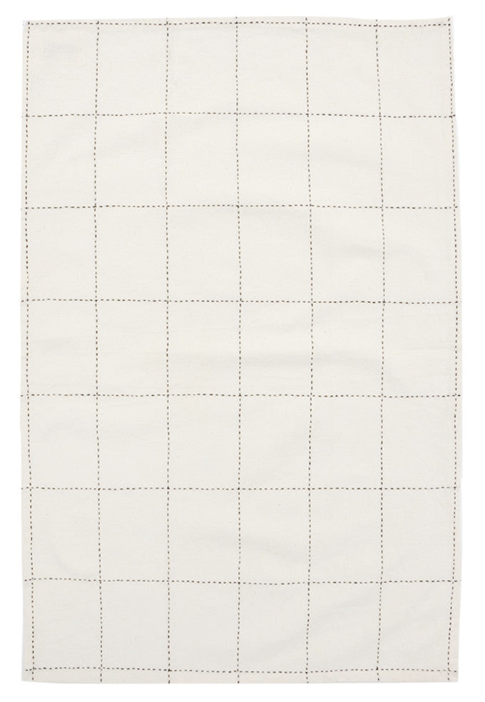 Grid Stitch Tea Towel