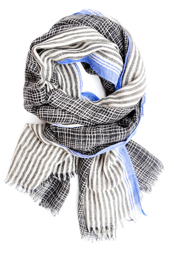 Stripes & Grids Wool Scarf - LEIF
