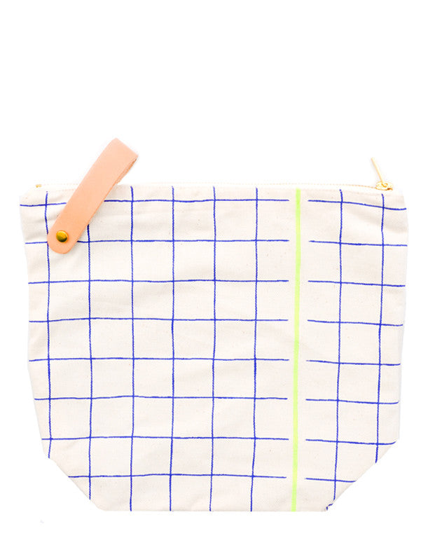 Grid Stripe Toiletry Bag - LEIF