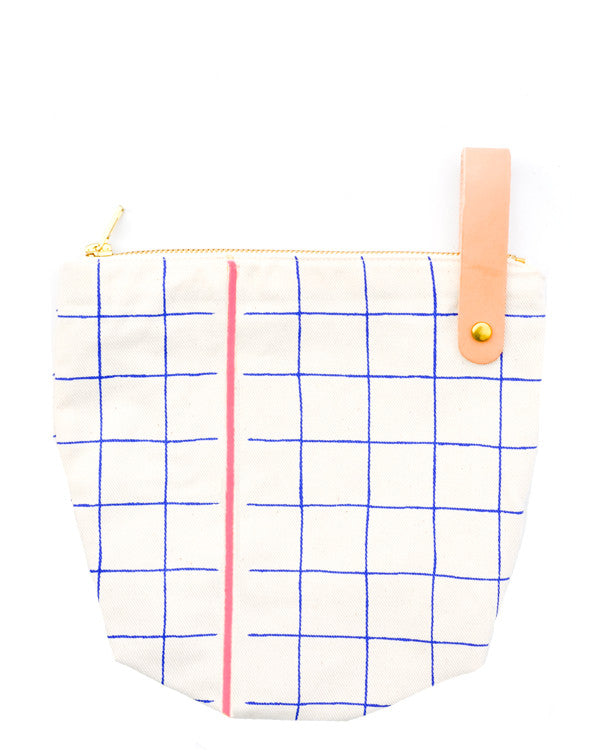 Grid Stripe Toiletry Bag