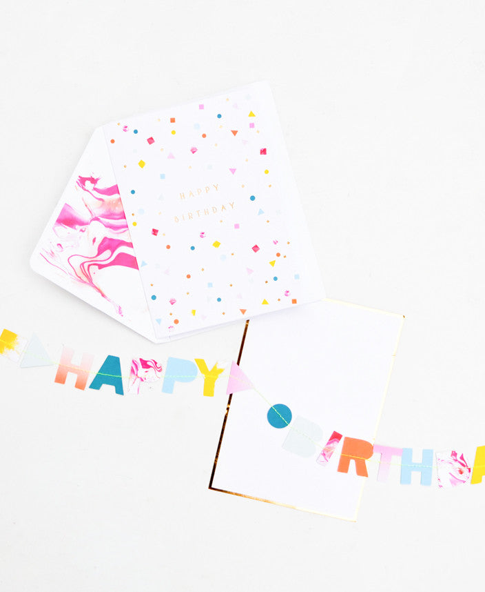 Happy Birthday Garland Card