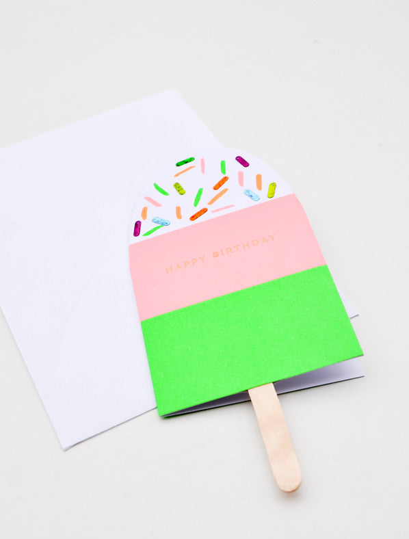 Popsicle Birthday Card - LEIF