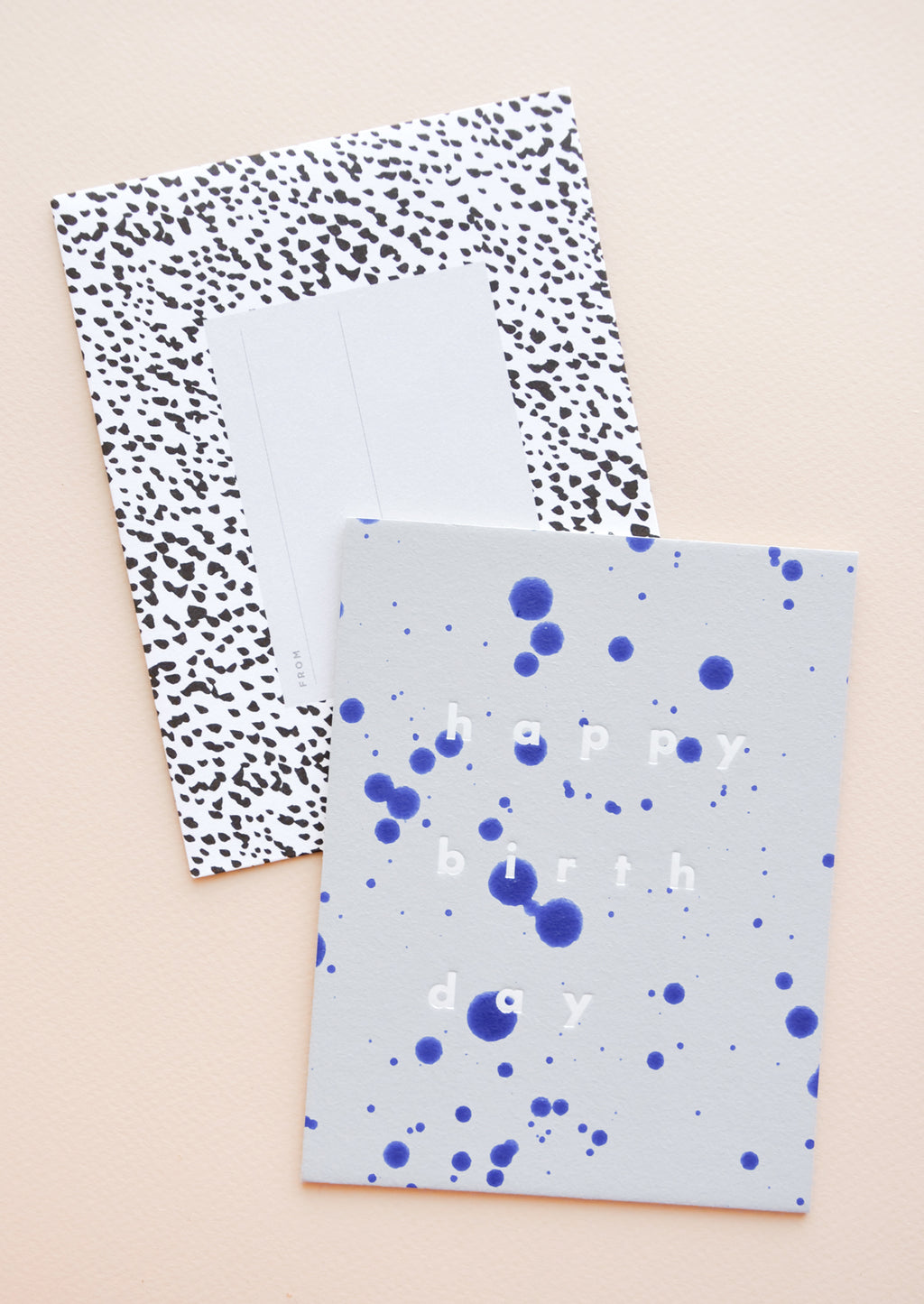 1: Blue Splatters Birthday Card