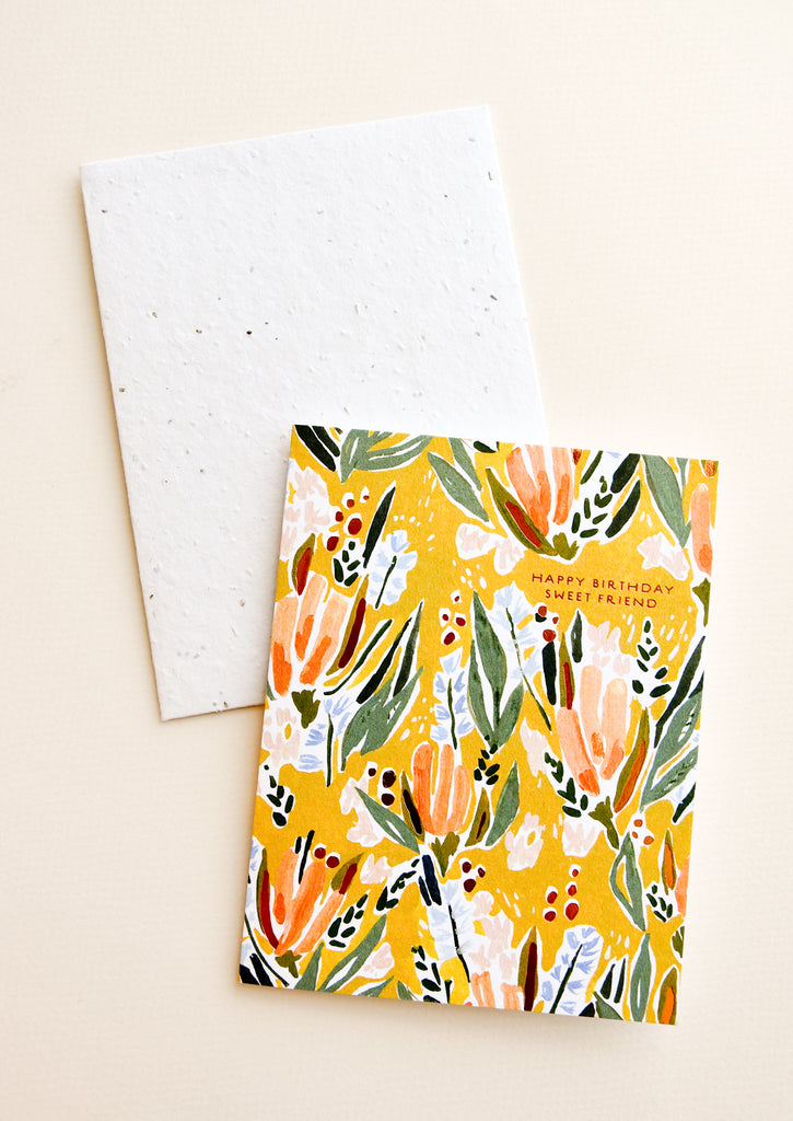 BFF  Best Friend  Friendship  Birthday  Seeded  Plantable  recycled  sustainably sourced  card