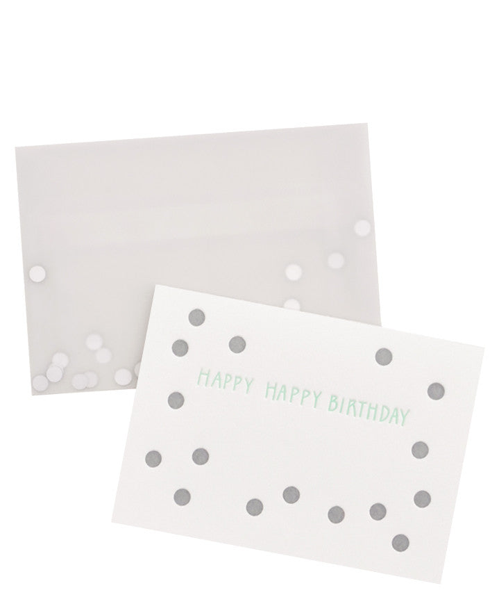 Happy Birthday Confetti Card - LEIF