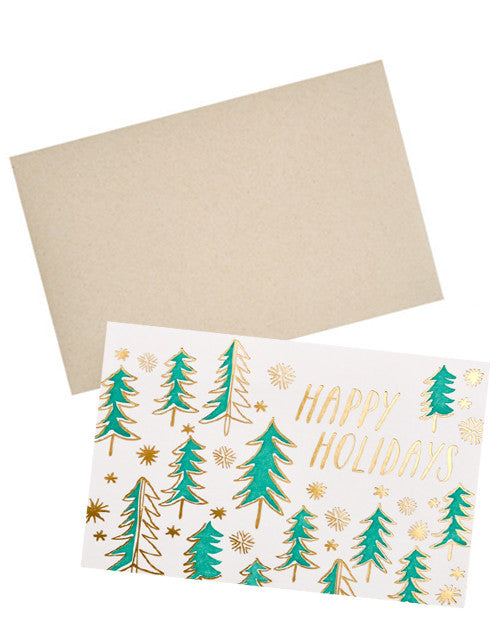 Happy Holidays Trees Card - LEIF