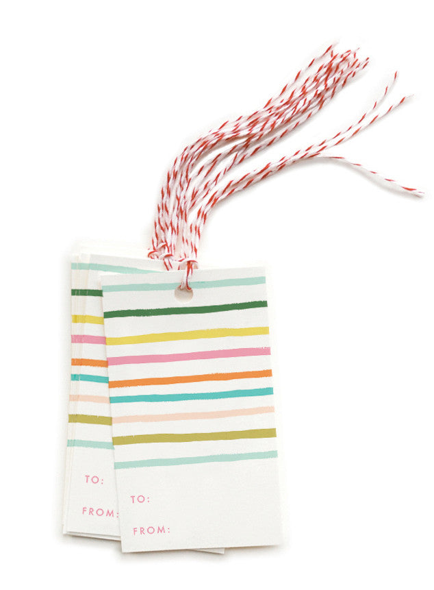 Happy Stripe Gift Tags - LEIF