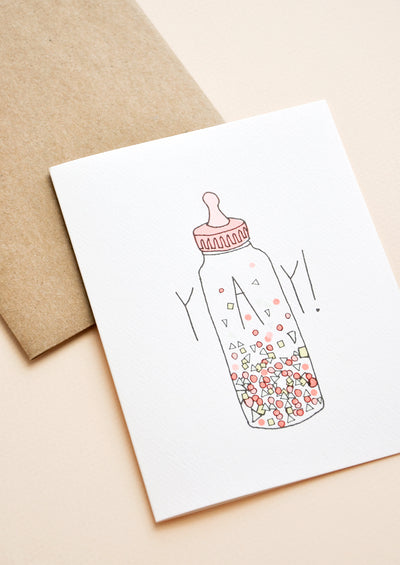 Confetti Bottle Baby Card hover