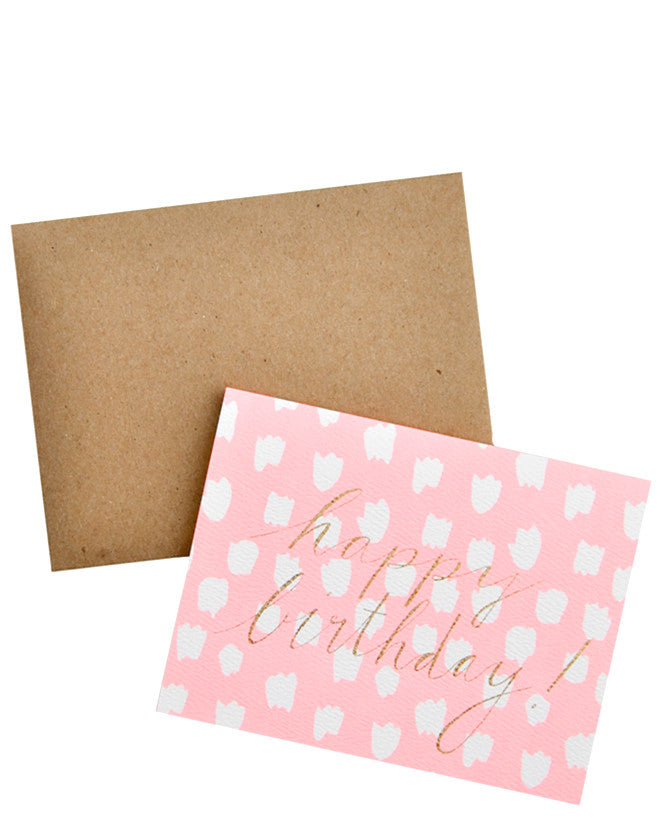 Glitter Script Neon Birthday Card