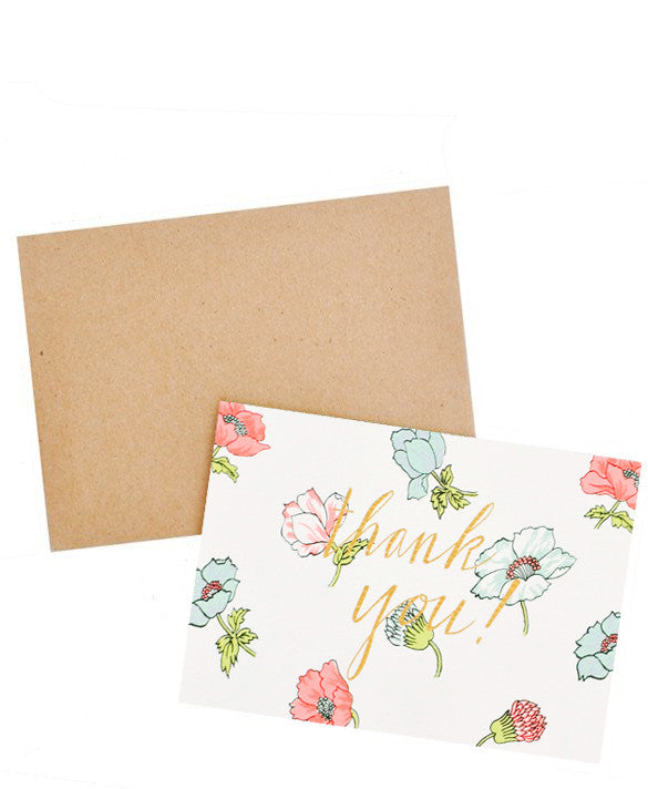 Neon Floral Thank You Card Set - LEIF