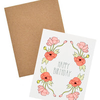 2: Neon Poppies Birthday Card in  - LEIF