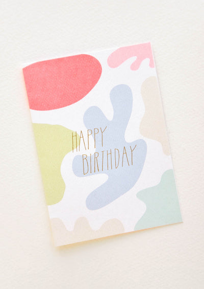 Neon Blobs Birthday Card