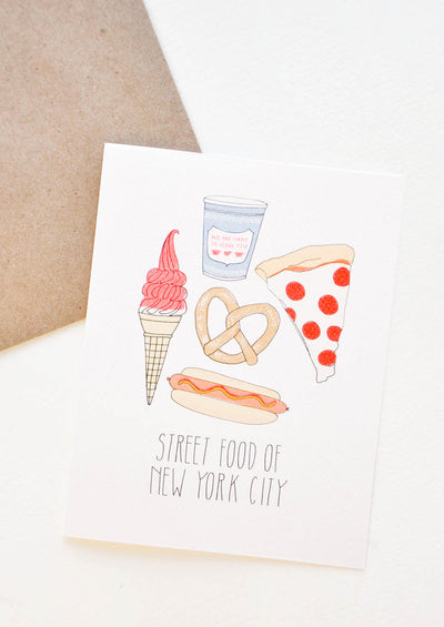 New York City Street Food Card in  - LEIF