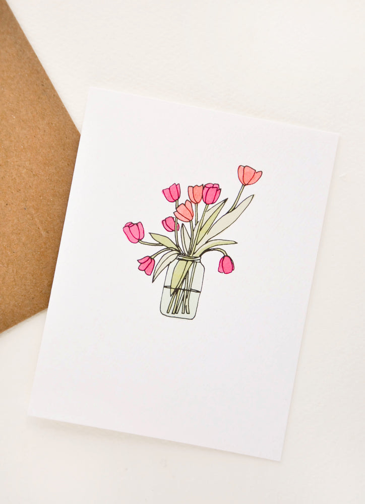 2: Vase of Tulips Card in  - LEIF