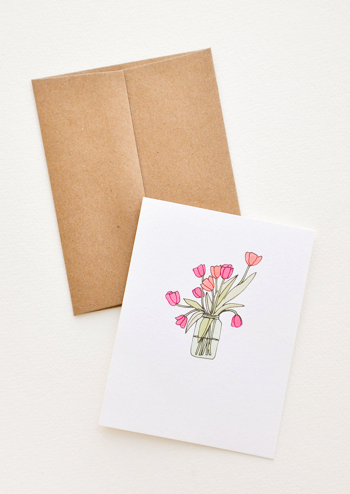 1: Vase of Tulips Card in  - LEIF