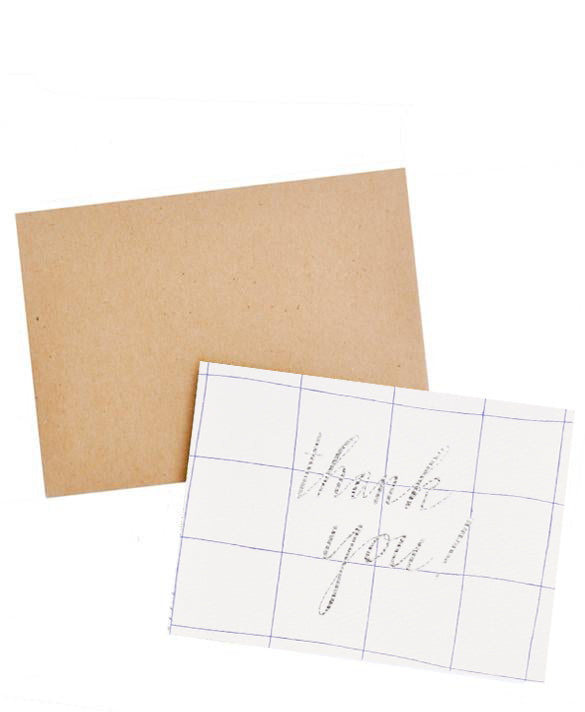 1: Windowpane Thank You Card Set in  - LEIF