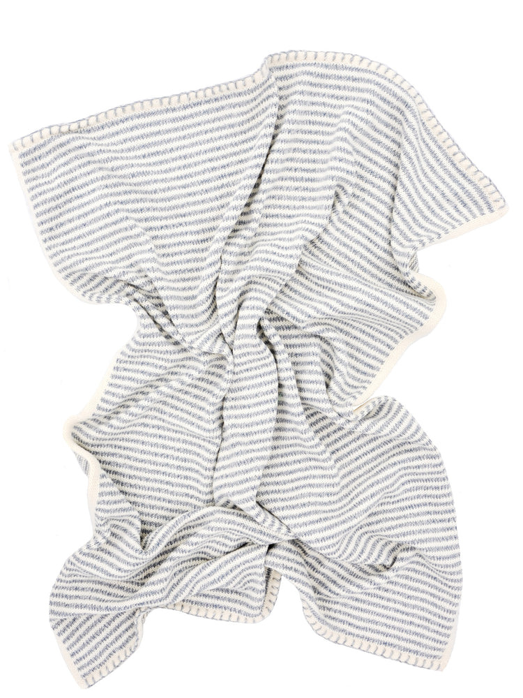Heathered Stripe Knit Baby Blanket - LEIF