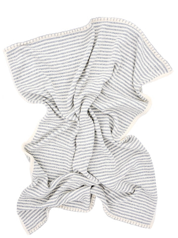 Heathered Stripe Knit Baby Blanket