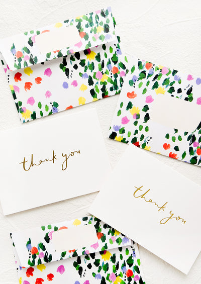 Patterned Envelope Thank You Card Set