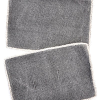 Charcoal: Heirloom Overdye Placemat Set - LEIF