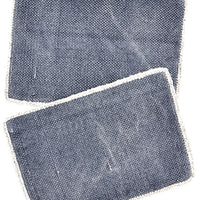 Indigo: Heirloom Overdye Placemat Set in Indigo - LEIF