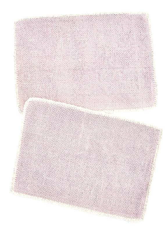 Lavender: Heirloom Overdye Placemat Set in Lavender - LEIF