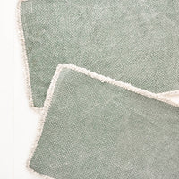 Spruce: Heirloom Overdye Placemat Set in Spruce - LEIF