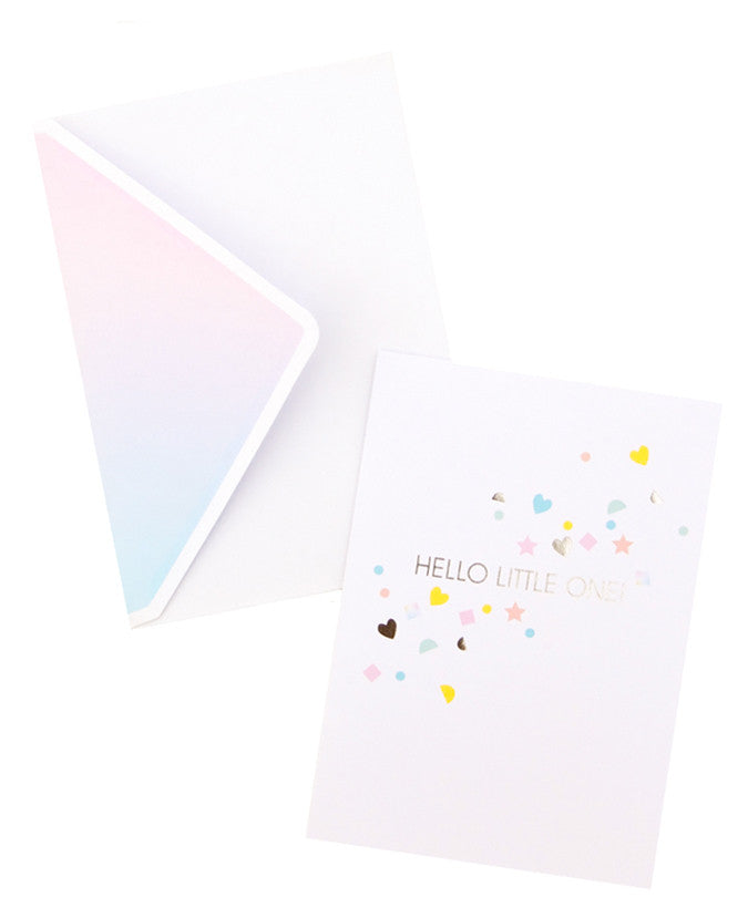 Hello Little One Garland Card