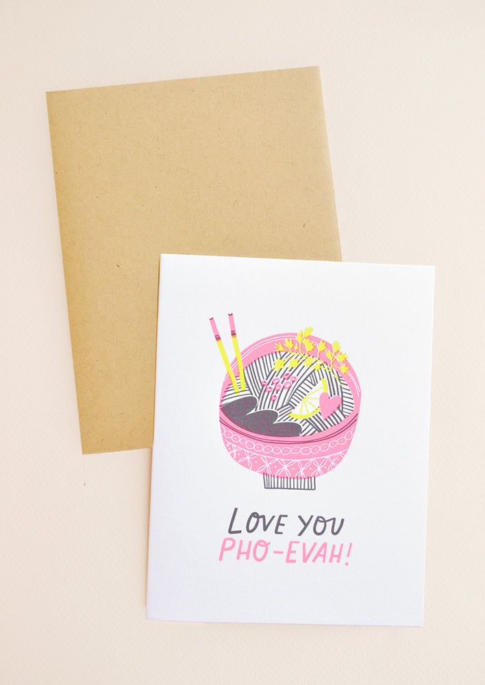 1: Love You Pho-Ever Card in  - LEIF