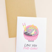 Love You Pho-Ever Card