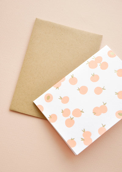 Peachy Letterpress Card Set