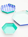 Hexagon Paper Serving Platter Set