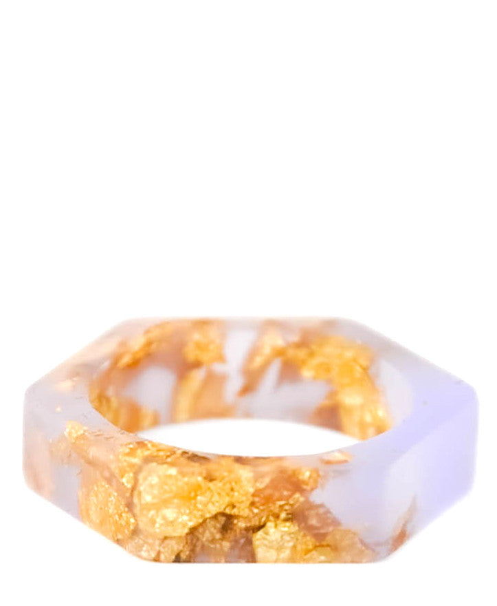 Resin Hexagon Ring - LEIF