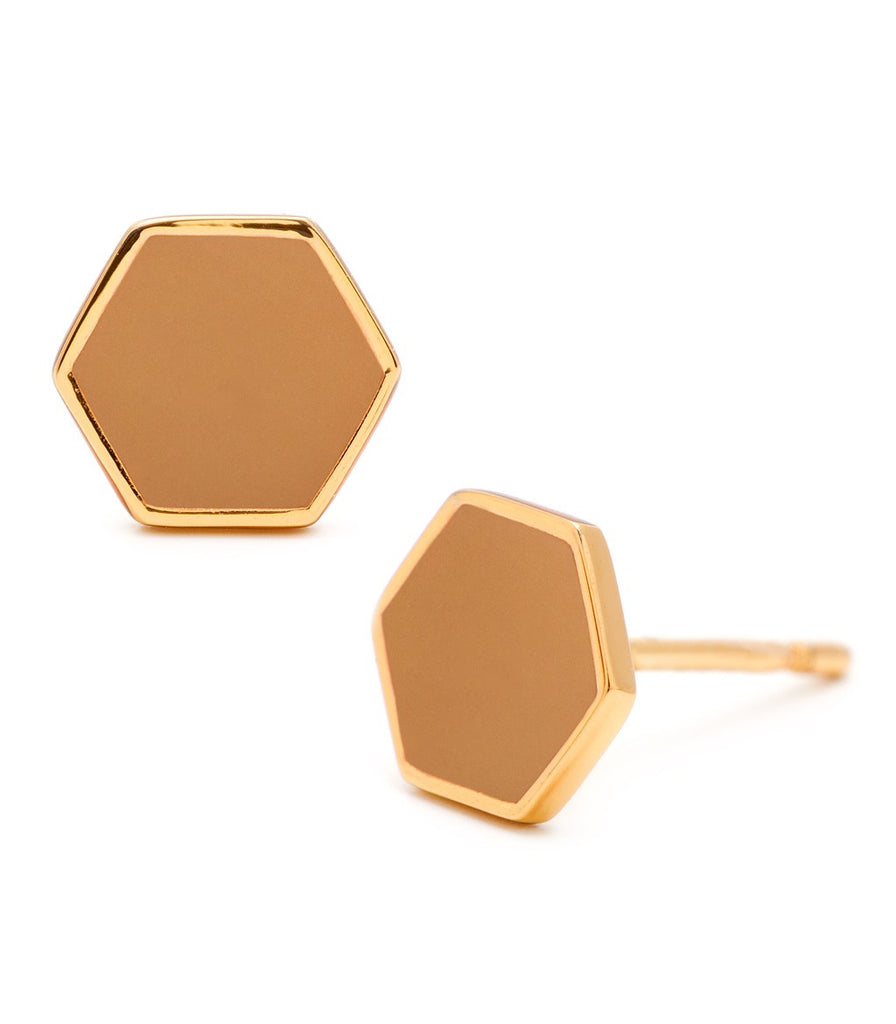 Bloom Hexagon Studs