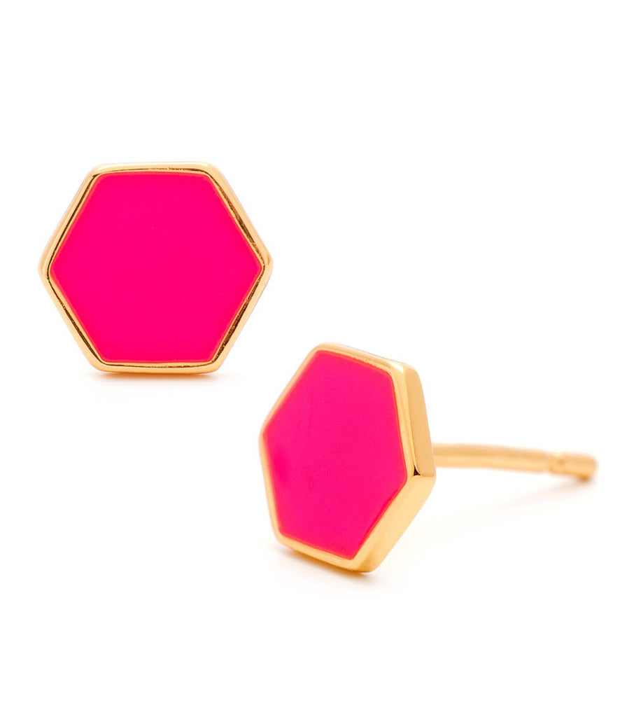 Bloom Hexagon Studs - LEIF