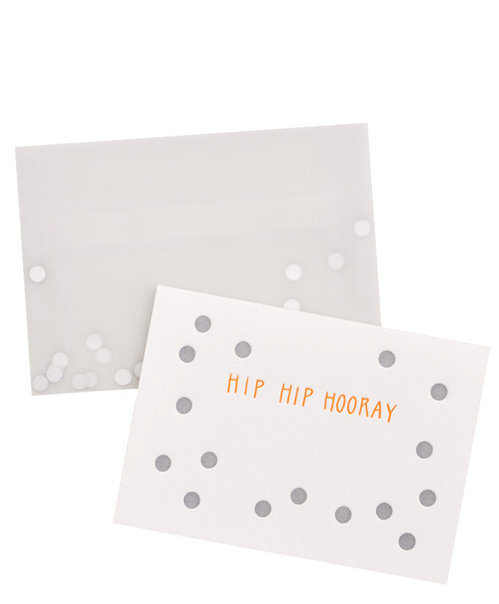 Hip Hip Hooray Confetti Card - LEIF