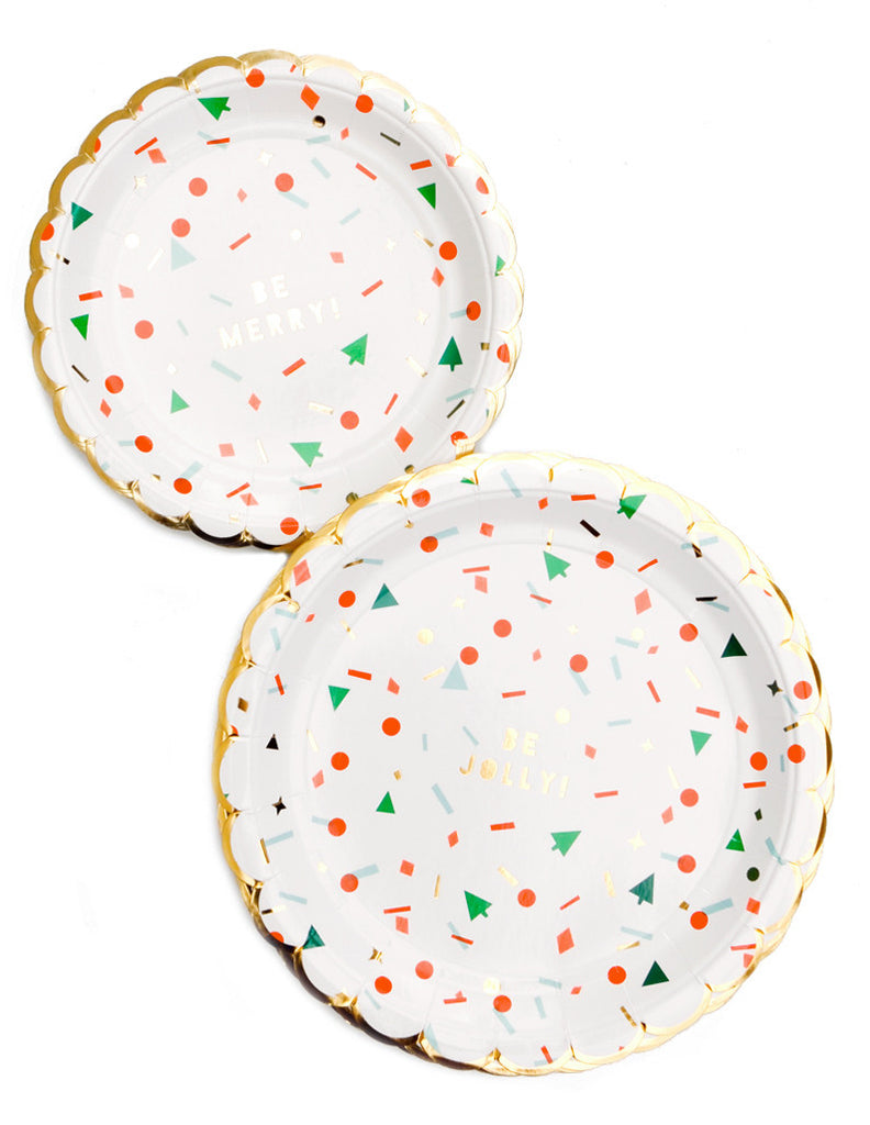 Holiday Confetti Paper Plates - LEIF