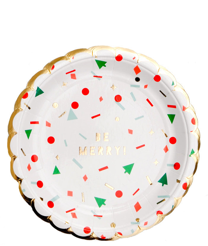 Holiday Confetti Paper Plates